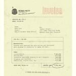 Boba Fett's invoice